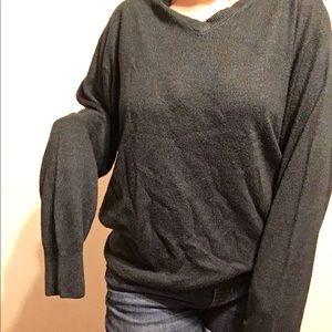 Jantzen Dark Teal Vneck Acrylic Sweater